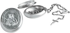 ROSARY BEADS AND CASE STERLING SILVER HALLMARKED 925 NEW FROM ARI D NORMAN
