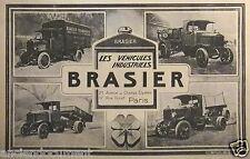 PUBLICITÉ 1920 LES VÉHICULES INDUSTRIELS BRASIER CAMIONS - ADVERTISING