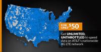 4G LTE ATT Unlimited HOTSPOT Data  $50 UNTHROTTLED NO CAPS TRUTLY UNLIMITED