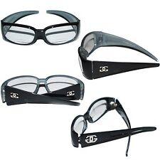 Bifocal Reading Glasses Chunky Black GG Logo Frame +1.75 Reader Lens