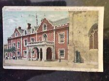 b1d  postcard used 1923 south port street gibraltar worn