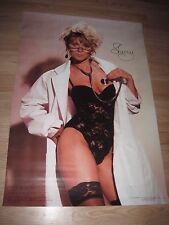 1993 Sherry Black Lace Corset & Stockings Pin Up Wall Poster/Free Ship!