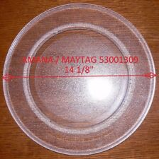 "14 1/8 "" AMANA / MAYTAG GLASS TURNTABLE PLATE / TRAY 53001309 Used Clean"