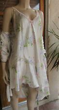 VTG OSCAR DE LA RENTA PINK LABEL Silky Floral Nightgown and Robe Set Size L