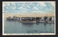 Clear Lake Iowa IA 1920 Tour Boat VICTORIA and another at White Pier Docks