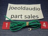 Radio Shack/Realistic LAB 89 Turntable Ground Wire & Spade Lug. Tested.