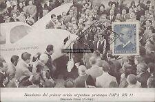 AVIATION BAUTISMO DEL PRIMER AVION ARGENTINO PROTOTIPO IMPA RR 11