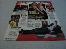 J018 RICKY MARTIN ARIELLE DOMBASLE KIEFER SUTHERLAND '2007 FRENCH CLIPPING