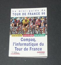 1996 MINI-GUIDE COMPAQ TOUR DE FRANCE 1996 EQUIPES ETAPES CYCLISME CICLISMO