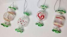 Decorazioni bianchi per albero di Natale vetro