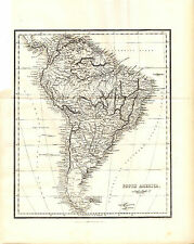 ANTIQUE ALEXANDER GEORGE FINDLAY MAP - SOUTH AMERICA - STEEL-ENGRAVED (1863)