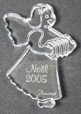 Baccarat Crystal 2005 Girl Angel Accordion Noel Christmas Ornament