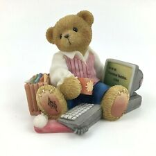 Enesco Cherished Teddies I Know How To Take Care Of Business 1999 Computer