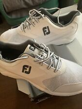 Mens FootJoy Athletics Spikeless Closeout Golf Shoes 56813 White Sz 11.5 M
