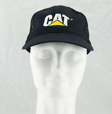 CAT Caterpillar Baseball Cap Hat Black Mesh Adjustable Snapback