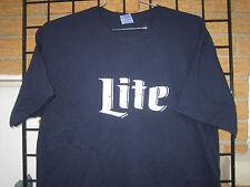 New (XL) Retro Vintage logo  MILLER LITE Beer T Shirt NAVY  bar racing fishing