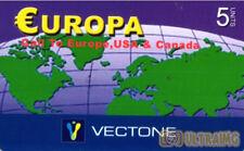 3455 SCHEDA TELEFONICA INTERNAZIONALE USATA EUROPA VECTONE 5 10/2005