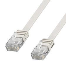 20m CAT5 Flaches Internetkabel Patchkabel LAN-Kabel Netzwerkkabel DSL Kabel weiß