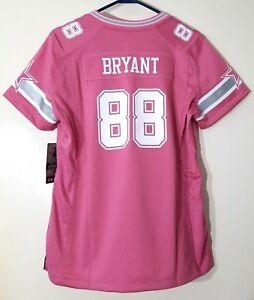Nike Dallas Cowboys Dez Bryant Womens Game Jersey Pink Size Large