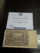 INGLORIOUS BASTERDS FAUX GERMAN ANTIQUE PAPER MONEY MOVIE PROP WITH COA bloody