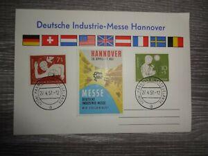 Karte Deutsche Industrie - Messe Hannover 1957