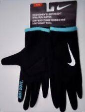 NIKE Lightweight Rival Run Gloves Womens Size M - Black/Hyper Jade/Silver