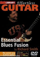 LICK LIBRARY EFFORTLESS GUITAR ESSENTIAL BLUES FUSION Learn to Play Lesson DVD