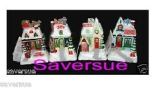 2009 Hallmark Caroling Cottages Full Set New Unactivated Set 4 Musical Tags New