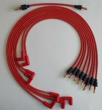 Small Block Chevy 327 350 400 RED 8mm Spark Plug Wires under Exhaust, Points Cap