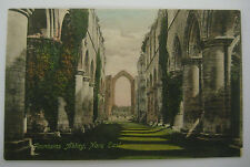 Vintage FOUNTAINS ABBEY NAVE EAST Postcard Frith 18365 Frith's Series ENGLAND