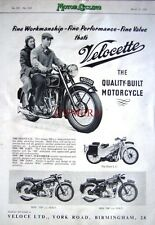 1955 VELOCETTE 'Silent LE' 'MSS500' 'MAC350' Motor Cycles ADVERT (487c) Print Ad