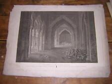 1810.salle justice palais de l'Alhambra Grenade.gravure 56,5/42,5cm.Laborde