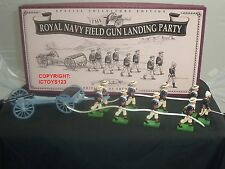 BRITAINS 8898 ROYAL NAVY FIELD GUN LANDING PARTY METAL TOY SOLDIER FIGURE SET