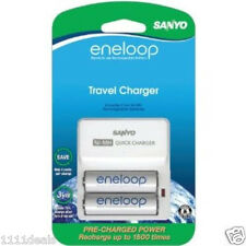 Sanyo Eneloop 2 Pack AA Rechargable Batteries With Charger