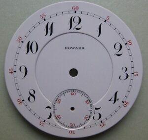 GENUINE VINTAGE E.HOWARD & CO POCKET WATCH PORCELAIN DIAL WHITE dia 42.60 mm NOS