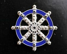 US AIR FORCE BUDDHIST HAT PIN Wheel of Dharma RELIGION AFB CHAPLAIN usa military