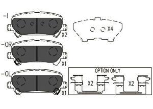 Disc Brake Pad Set-TSS Ceramic Pads Rear Dash 4 Brake TD1806C