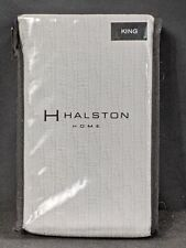 "Halston Home King Sham Amale Platinum NEW 20""x36"""