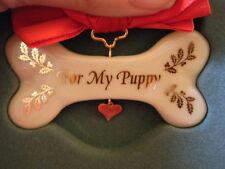 LENOX For My Puppy Ornament CHRISTMAS Boxed Metal Jeweled
