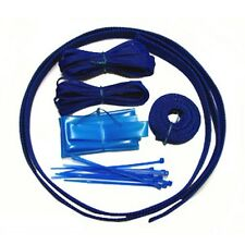 PC Computer Power Supply Cable Sleeving Kit Zip Ties UV Blue