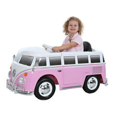 Kids Girls Electric Ride On VW Camper Van With Remote Control 12V 3+ Years, Pink