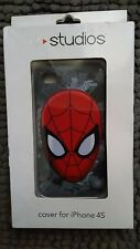 u studios iphone 4s spiderman hard case grey and red new