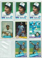⚾ 1982 Topps Dave Stieb #380 - Toronto Blue Jays ~ 8 Card Lot, Look at Condition