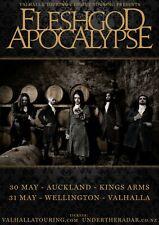 Fleshgod Apocalypse 2017 New Zealand Concert Tour Poster - Symphonic Death Metal