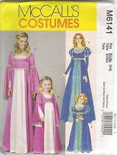 McCalls Sewing Pattern 6141, Renaissance Dress Costume, Child 3 - 8, New