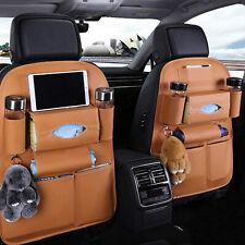 Car Seat Back PU Leather Bag Organizer Storage iPad Phone Holder Multi-Pocket