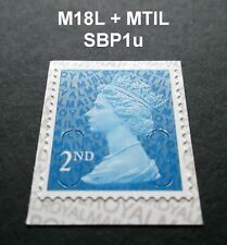 SBP1 VARIANT 2nd Class M18L + MTIL MACHIN SINGLE STAMP