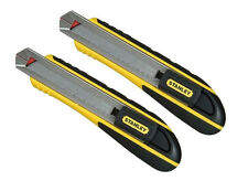 Stanley 18mm FatMax Snap Off Blade Knife Handle 0-10-481  - NO BLADES -TWIN PACK