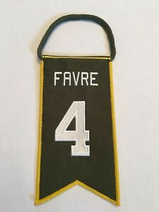 🏈Brett Favre Green Bay Packers Jersey Retirement Mini Banner Pennant #4🔥👀