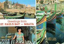 Malta-St Paul's Bay-fishing village with a typical fish vendor